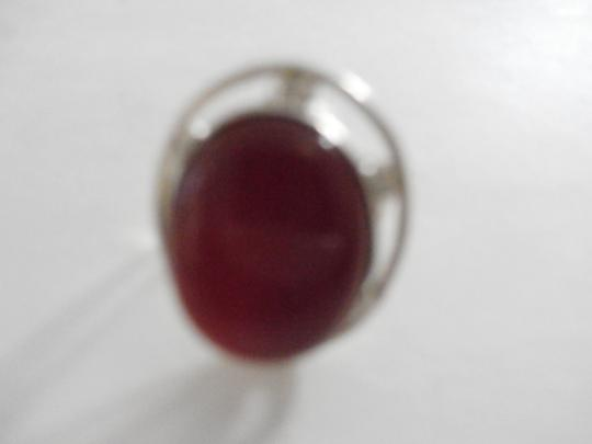 Other PRE-OWNED STERLING SILVER CARNELIAN RING SIZE 6 Image 1