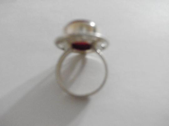 Other PRE-OWNED STERLING SILVER CARNELIAN RING SIZE 6 Image 2