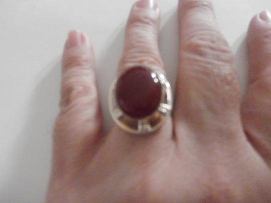 Other PRE-OWNED STERLING SILVER CARNELIAN RING SIZE 6 Image 3