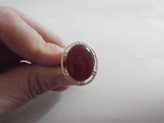 Other PRE-OWNED STERLING SILVER CARNELIAN RING SIZE 6 Image 4