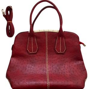 European Designer Matthew Cox Hobo Strap Satchel in Red
