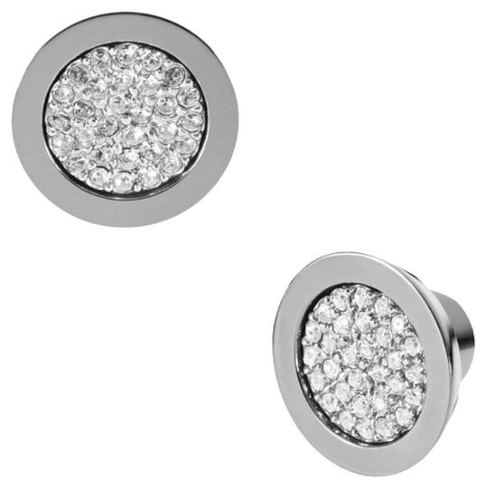 Michael Kors Nwt Michael Kors Silver Tone Brilliance Pave Stud Pierced Earrings Image 7