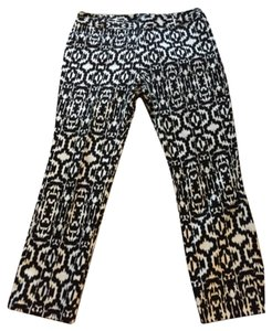Lord & Taylor Straight Pants Black and white