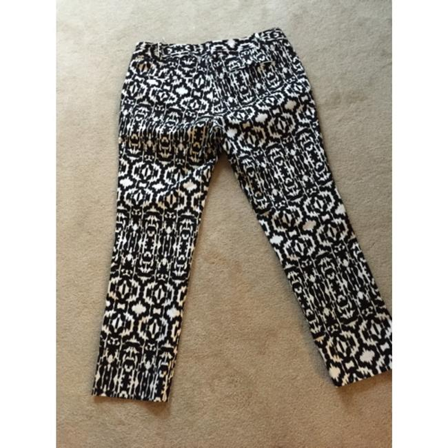 Lord & Taylor Straight Pants Black and white Image 1