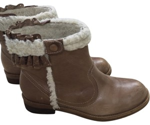 Anthropologie Brown Distress Boots
