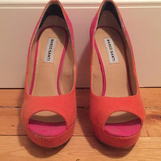 Marco Santi Orange and pink Pumps