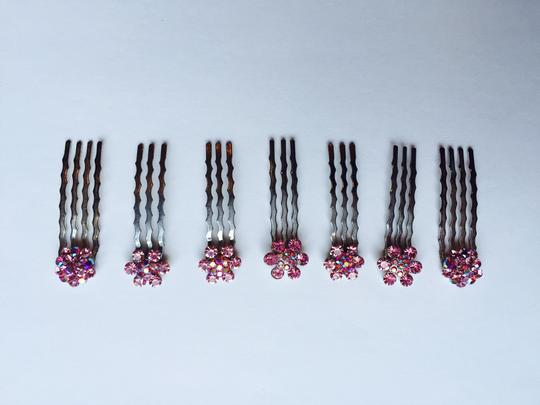 Other Set of 7 Pink Multi-stone Hair Pins Image 1