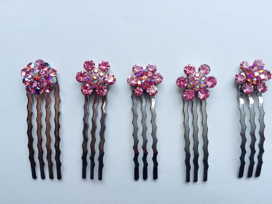 Other Set of 7 Pink Multi-stone Hair Pins Image 2