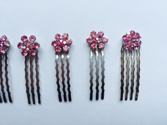 Other Set of 7 Pink Multi-stone Hair Pins Image 3