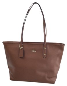 Coach Satchel Handbag Tote in Brown
