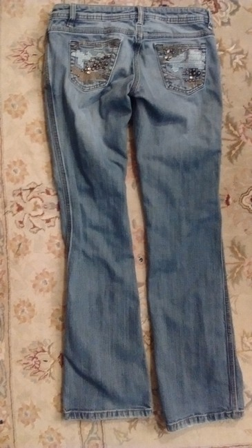Other Embroidered Studded Skinny Jeans-Medium Wash Image 2
