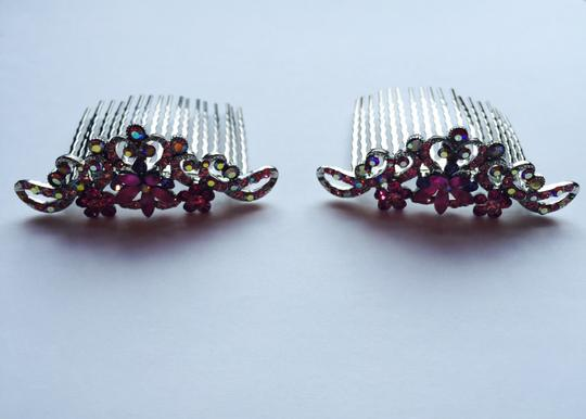 Other Multi-stone Floral Hair Combs Image 3