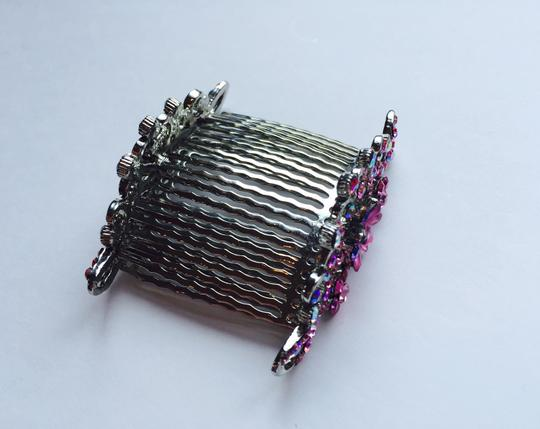 Other Multi-stone Floral Hair Combs Image 4