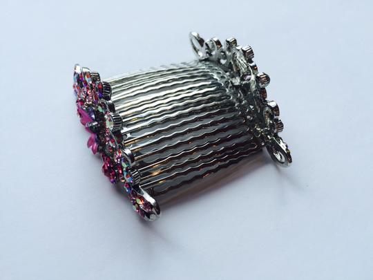 Other Multi-stone Floral Hair Combs Image 5