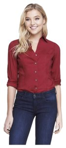 Express Button Down Shirt Red Lacquer