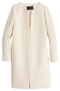 J.Crew White Trench Coat