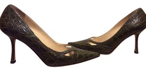 Jimmy Choo Crocodile Alligator OLIVE GREEN Pumps