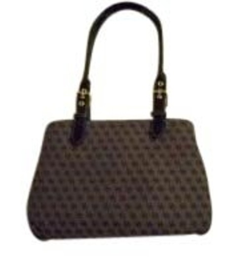 Preload https://item3.tradesy.com/images/dooney-and-bourke-and-large-double-handled-purse-black-gray-canvas-leather-tote-8787-0-0.jpg?width=440&height=440