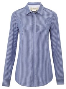 Max Mara Button Down Shirt Blue and white stripe