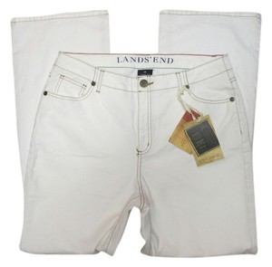Lands' End Boot Cut Jeans-Light Wash