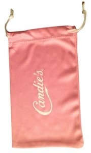 Candie's Candie's Eyeglass Sunglass Pouch Cleaning Case Pink Drawstring Closure