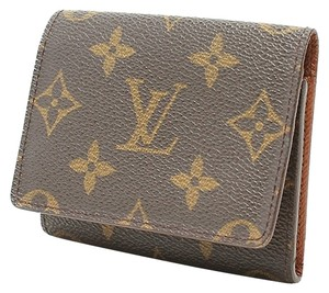 2766fe8e2cf7 Louis Vuitton Monogram Browns Business Card Holder Wallet - Tradesy