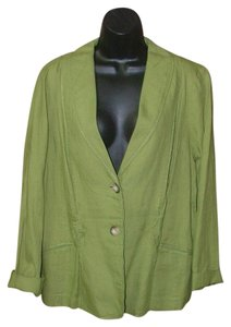 J. Jill Boho Embroidered Cactus Green Blazer