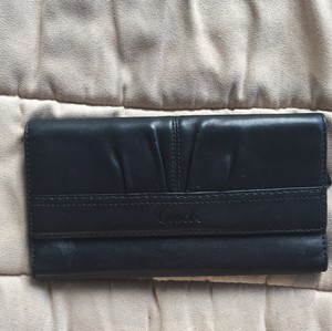 Coach Leather,coach,wallet,change Compartment