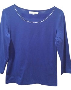 Ellen Tracy T Shirt Royal blue