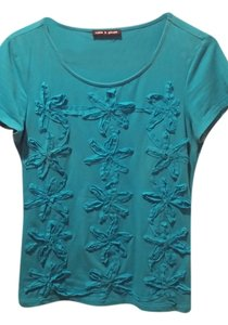 Cable & Gauge T Shirt Teal