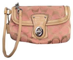 Coach Wristlet in Pink Tan