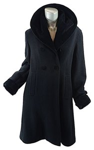 Romeo Gigli Fleece Doublebreasted Velvet Trench Coat