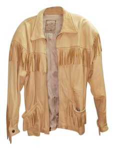 The Santa fe Collection Light yellow/ Leather Jacket