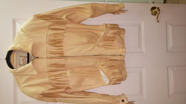 The Santa fe Collection Light yellow/ Leather Jacket Image 1