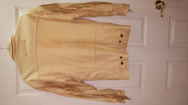 The Santa fe Collection Light yellow/ Leather Jacket Image 3