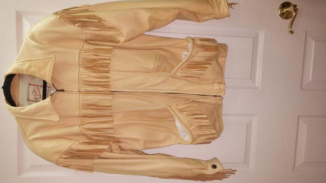 The Santa fe Collection Light yellow/ Leather Jacket Image 4
