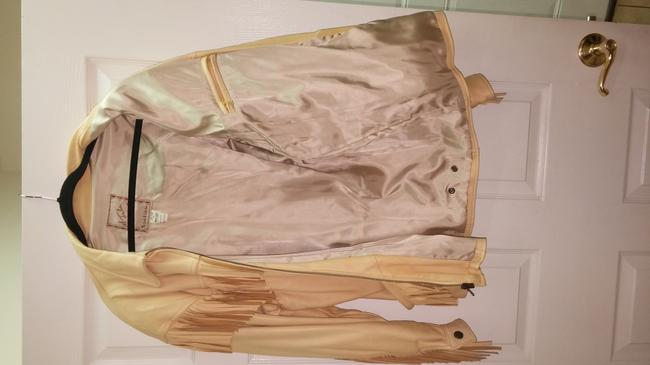 The Santa fe Collection Light yellow/ Leather Jacket Image 5