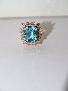 Other Vintage Genuine Diamonds/Blue Topaz Size 7.50 weight is 7.5 grams