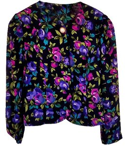 Leslie Fay Bright Top floral