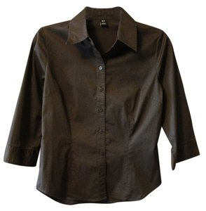 H&M Button Down Shirt Brown