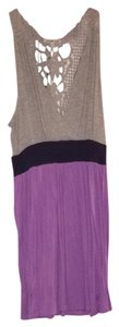 Charlotte Russe short dress Gray/purple on Tradesy
