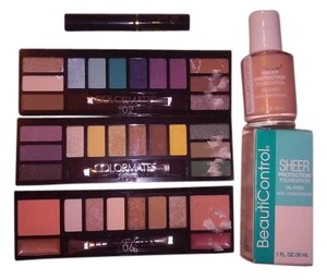 Multicolored Eye Shadow Blush and Lip Makeup Set with free gift