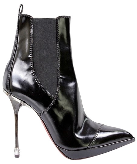 Jonathan Kelsey Patent Leather Pointed Toe Black Boots