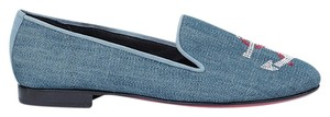 Kardinale by Fernando Pensato Slipper Ballerina Ballet Denim Nautical Black Flats