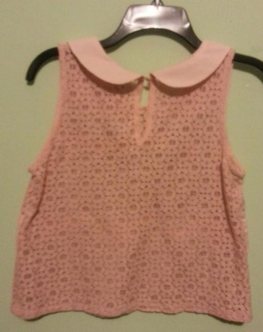 Charlotte Russe Lace Pink Tank Top