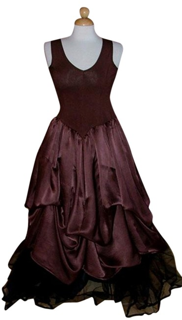 Preload https://img-static.tradesy.com/item/879014/brown-euro-style-bubble-hem-parachute-silk-long-night-out-dress-size-12-l-0-0-650-650.jpg