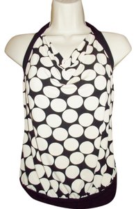 IZ Byer California Black/White Halter Top