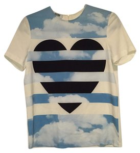 Moschino T Shirt Cream, black, blue
