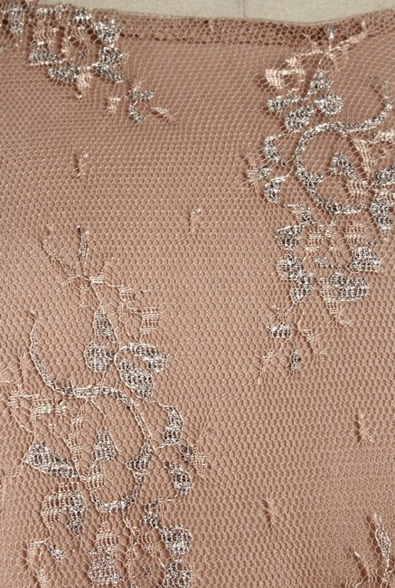 Romeo & Juliet Couture Lace Top Tan Metallic Image 2