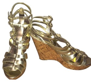 BCBGeneration Sandal Gold Wedges